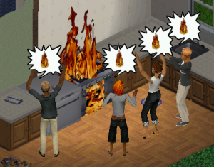And then Farty's house burned down because he didn't know how to use the stove.