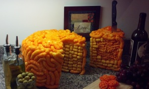 I guess I could live without Cheetos cake. I guess.